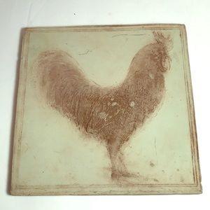 Home & Garden Rooster Tile Piece 2002
